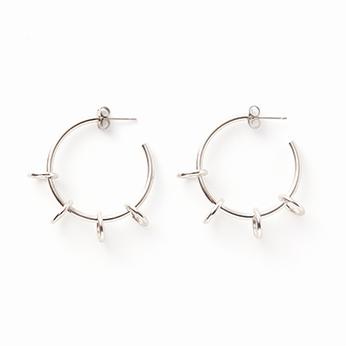 Ada earring palladium