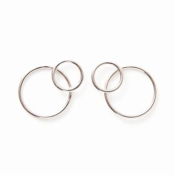 Lea earrings palladium